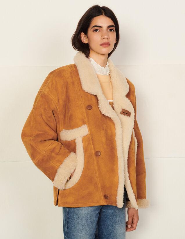 Short Sheepskin Coat : Coats color Ochre