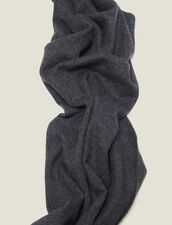 Wool And Cashmere Scarf : Scarf color Charcoal Grey