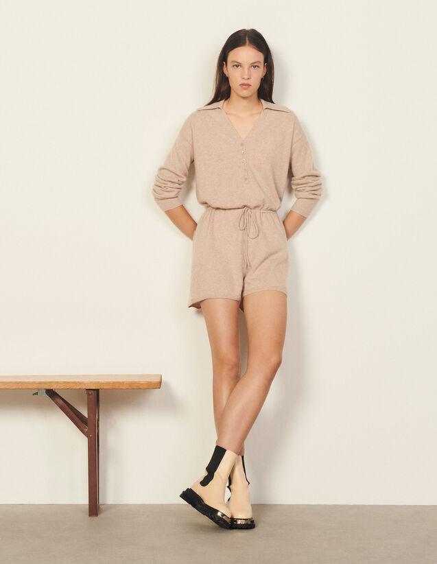 Cashmere Playsuit : Jumpsuits color Beige