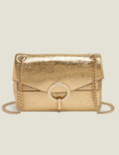 Full Gold Yza Bag, Small Model : Accessories color Full Gold