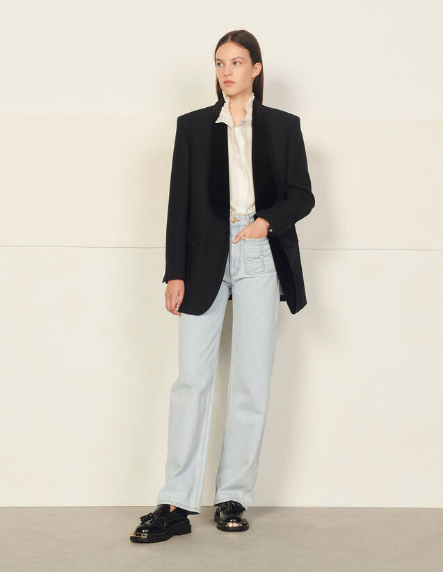 Suit Jacket With Shawl Collar : Blazer & Jacket color Black