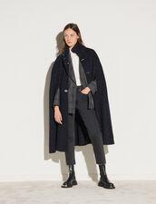 Cape Coat : Coats color Navy / gold