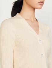 Fine Ribbed Knit Cardigan : Sweaters & Cardigans color Ecru