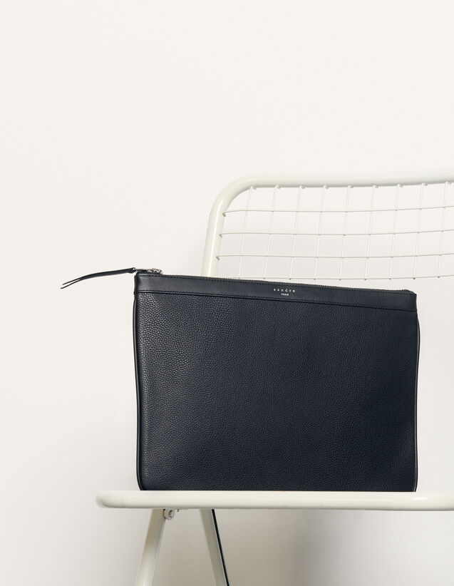 Zipped Pouch : 包袋 color Black