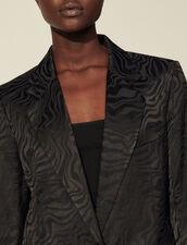 Jacquard Tailored Jacket : Blazer & Jacket color Black