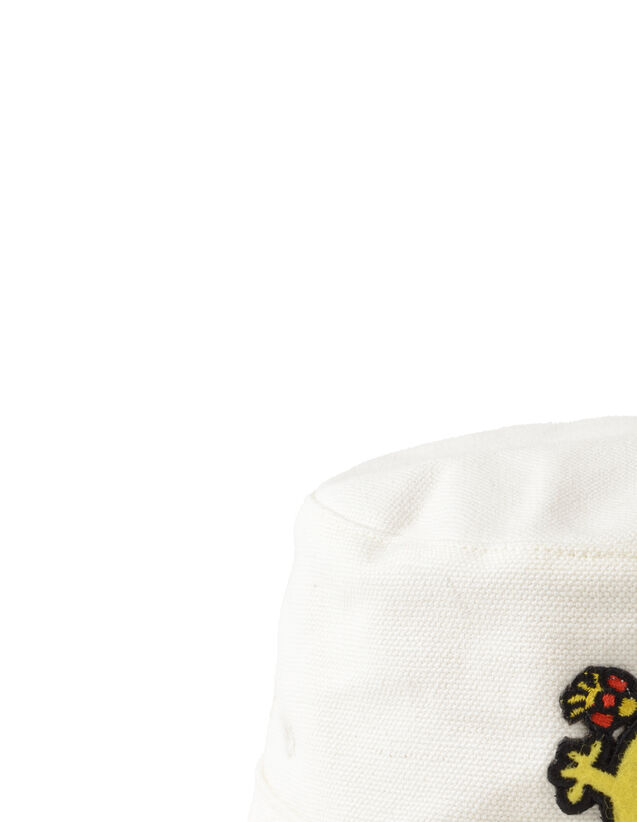 Reversible Bucket Hat With Patch : Sandro x Mr. Men & Little Miss color white