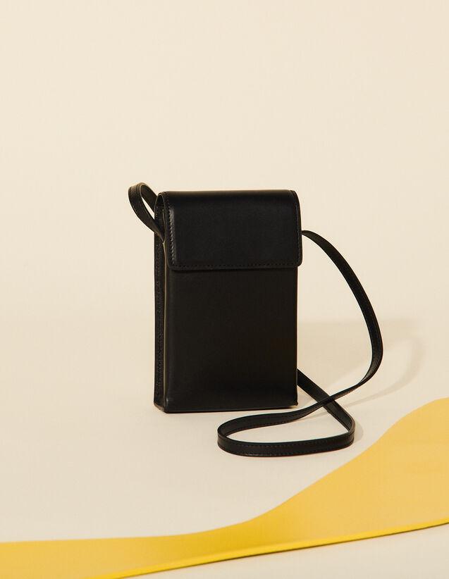 Leather Shoulder Bag : Bags color Black