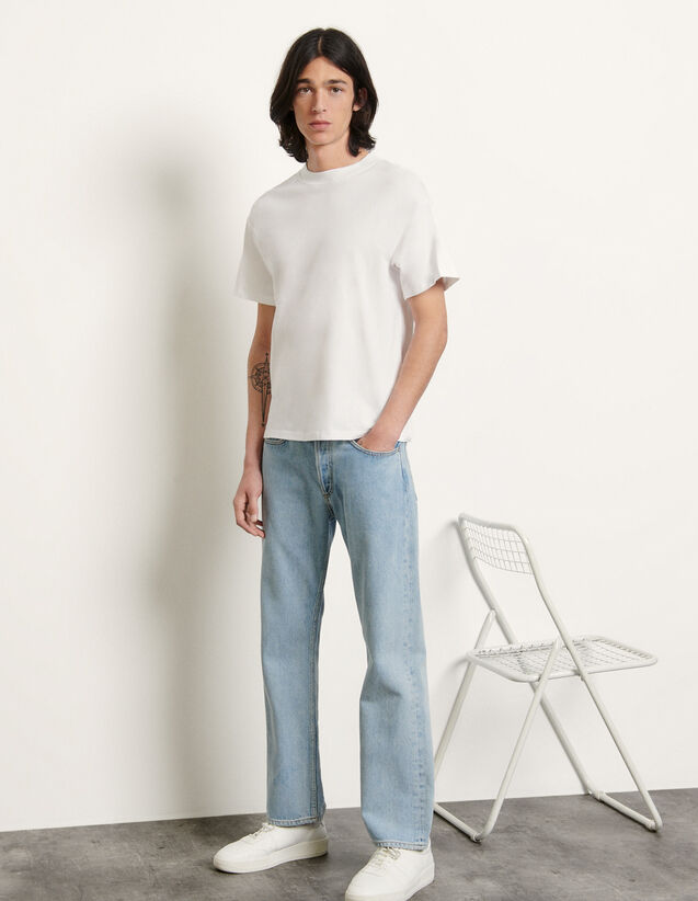 Brushed Cotton T-Shirt : T-shirts & Polo shirts color white