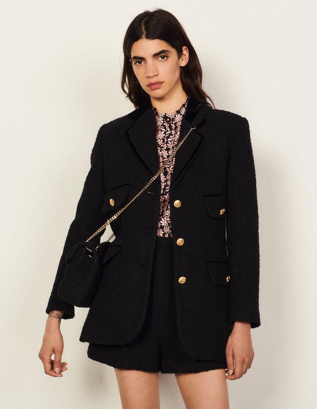 Tweed Jacket : Blazers & Jackets color Black