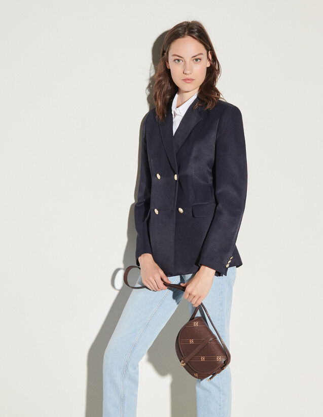 Blazer With Fancy Buttons : Blazer & Jacket color Navy Blue