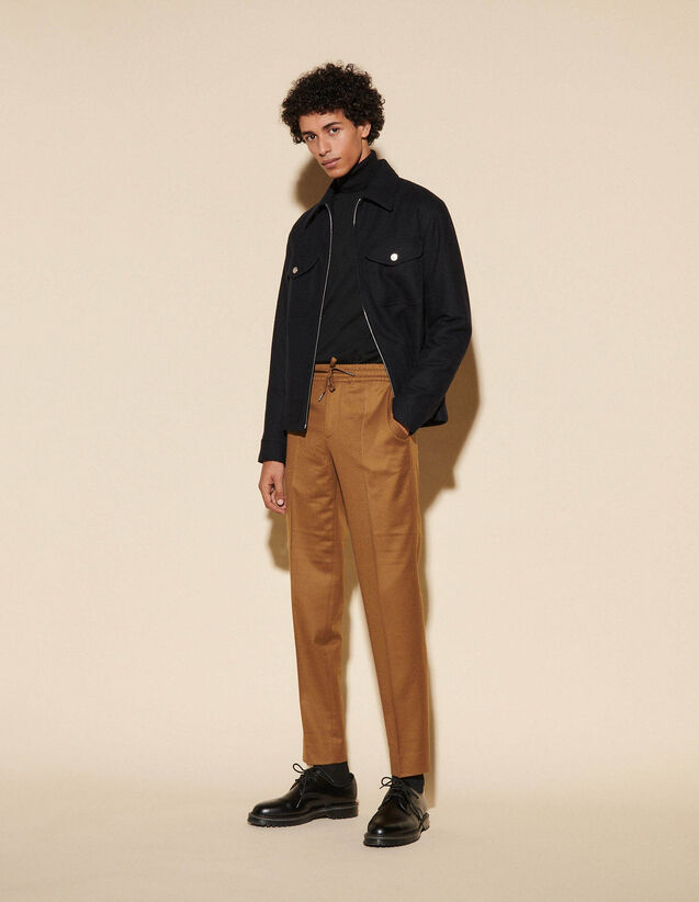Flannel Trousers : Pants & Shorts color Camel