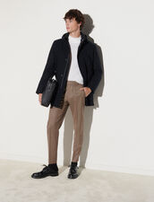 Wool Parka : Trench coats & Coats color Navy Blue