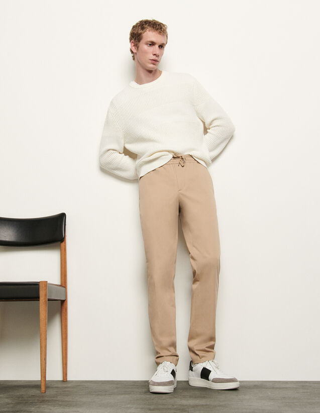 Trousers With Elasticated Waistband : Pants & Shorts color Beige