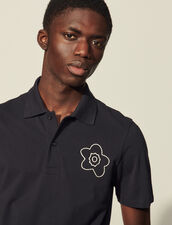 Cotton Polo Shirt With Embroidery : T-shirts & Polo shirts color Navy Blue