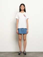 Organic Cotton T-Shirt With Patch : T-shirts color white