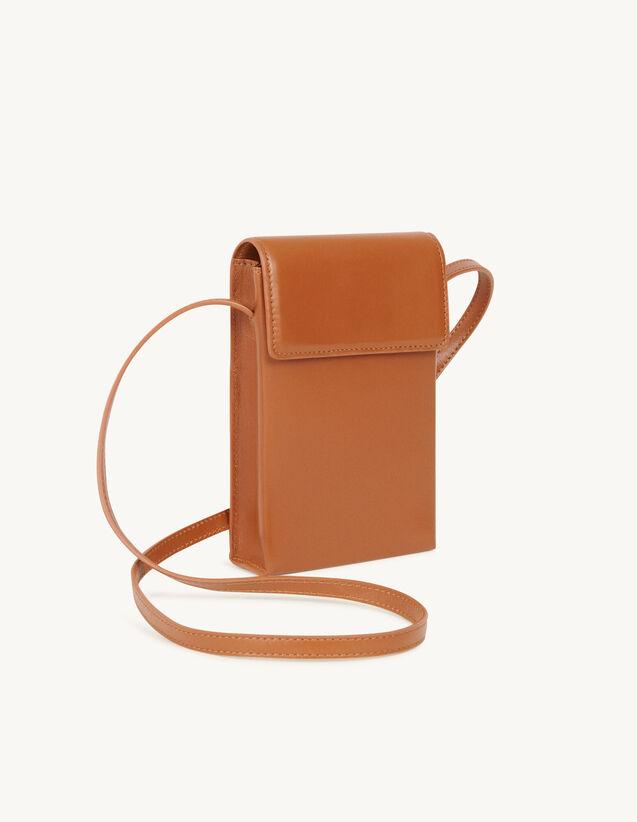 Leather Shoulder Bag : Leather Goods color Black