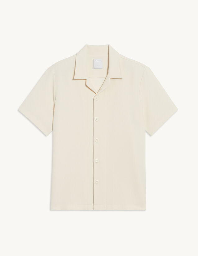 Short-Sleeved Shirt : Spring Summer Collection color Ecru