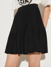 Skater Skirt In Compact Knit : Skirts & Shorts color Black