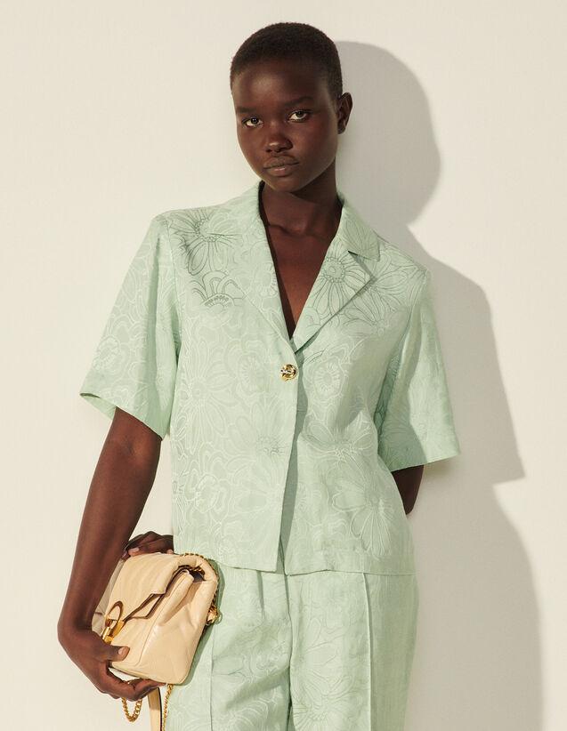 Jacquard Pyjama Shirt : Shirts color Argile