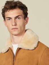 Shearling Jacket : Trench coats & Coats color Camel