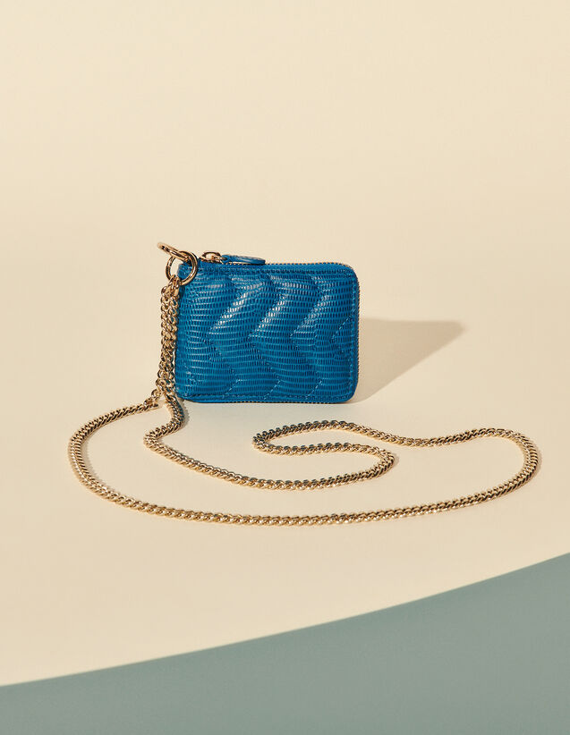 Leather Purse : Other accessories color Ultramarine