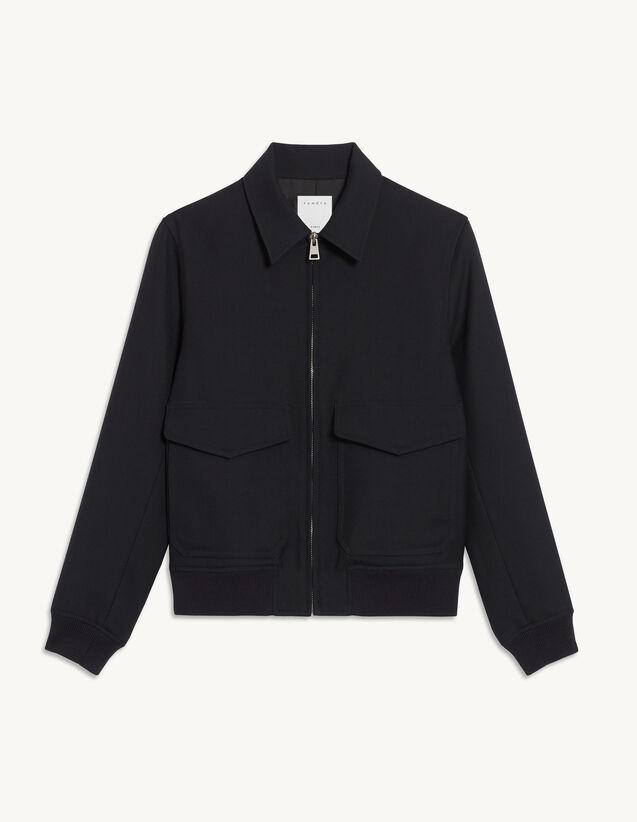 Aviator Jacket : Trench coats & Coats color Navy Blue