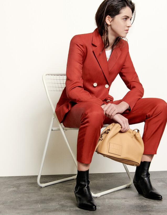 Double-Breasted Blazer : Blazer & Jacket color Terracotta