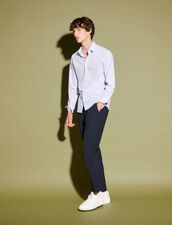 Striped Cotton Shirt : Shirts color white