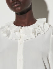 Floaty Shirt With Layered Collar : Shirts color Ecru