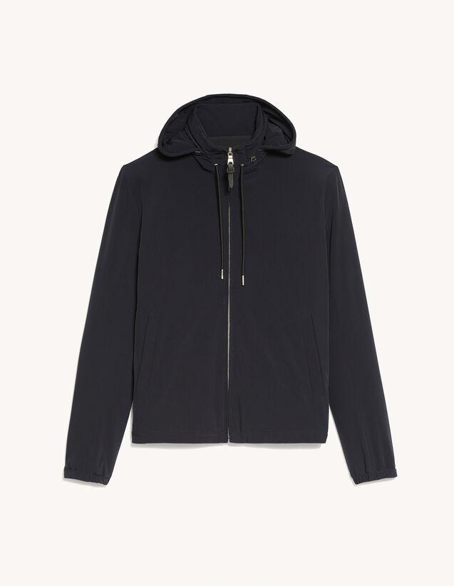 Technical Fabric Jacket : Coats & Jackets color Navy Blue