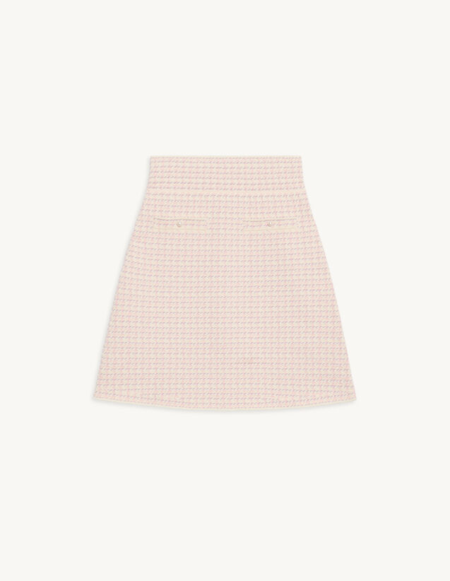 Short Skirt In Fancy Tweed : Skirts & Shorts color Pink