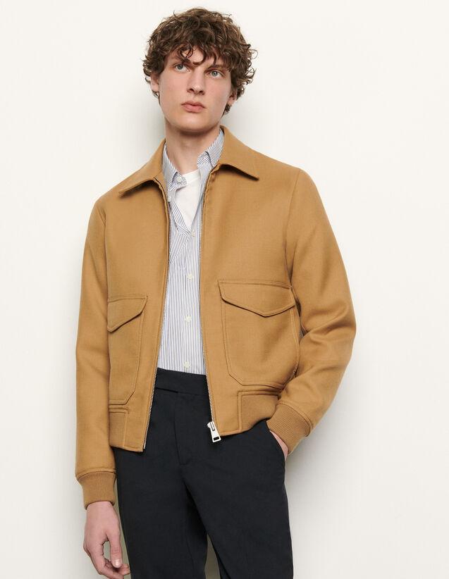 Aviator Jacket : Trench coats & Coats color Beige
