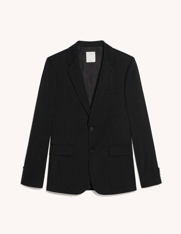 Wool Suit Jacket : Suits & Tuxedos color Black