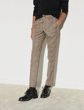 Checked Trousers : -50% color Beige