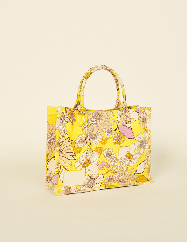 Printed Tote Bag : Others Bags color Yellow / Lilac