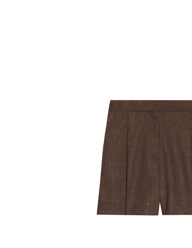 High-Waisted Shorts : Skirts & Shorts color Brown