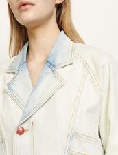 Washed Denim Jacket : Blazer & Jacket color Bleu Denim
