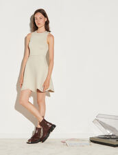 Knit Dress Finished With Pearly Studs : Dresses color Gold