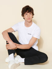 Embroidered T-Shirt : T-shirts & Polo shirts color white