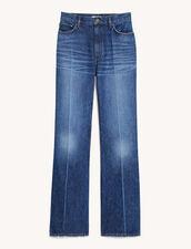 Five Pocket Faded Jeans : Jeans color Bleu Denim