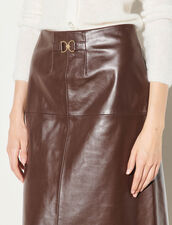 Leather Skirt : Skirts & Shorts color Black Brown