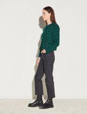 Short Tweed Jacket : Blazer & Jacket color Green / Black