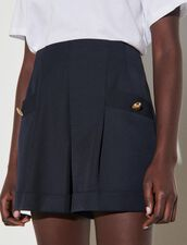 Shorts With Turn-Ups : Skirts & Shorts color Navy Blue