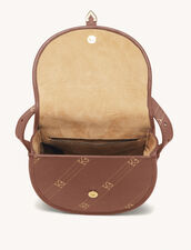 Bag With Contrasting Monogram : My Addict Bag color Brown