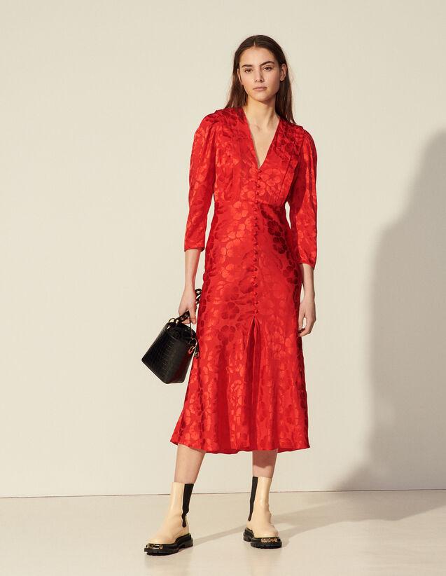 Long Flowing Dress : Dresses color Red