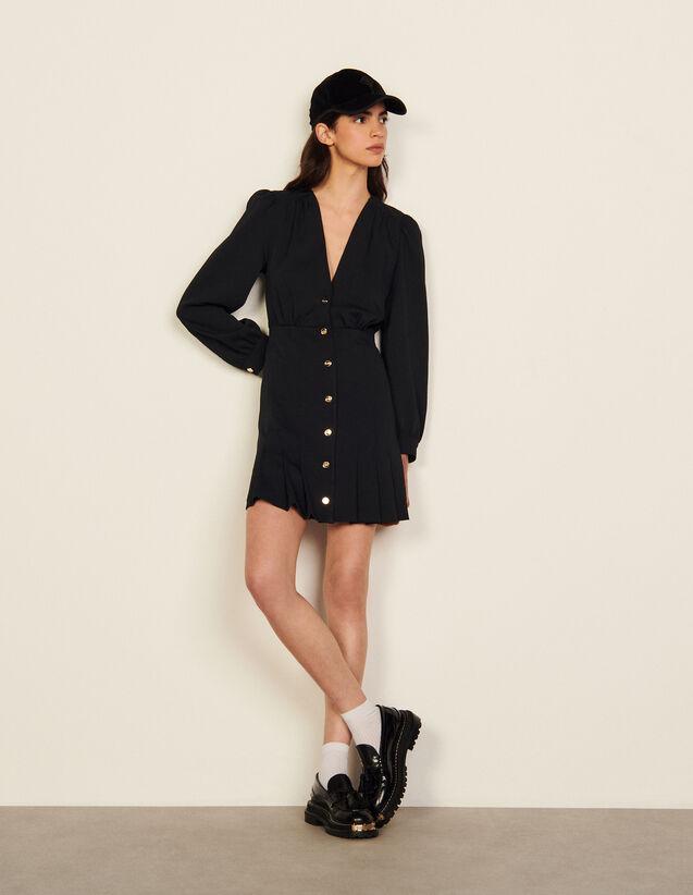 Short Dress With Press Studs : Dresses color Dark Navy