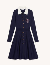 Polo Style Dress : Dresses color Navy Blue