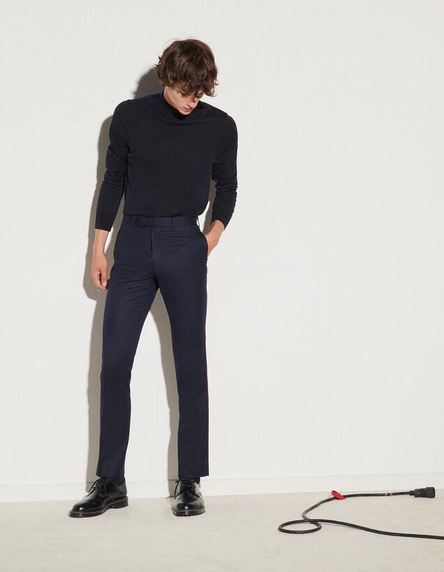 Flannel Suit Trousers : Pants & Shorts color Grey