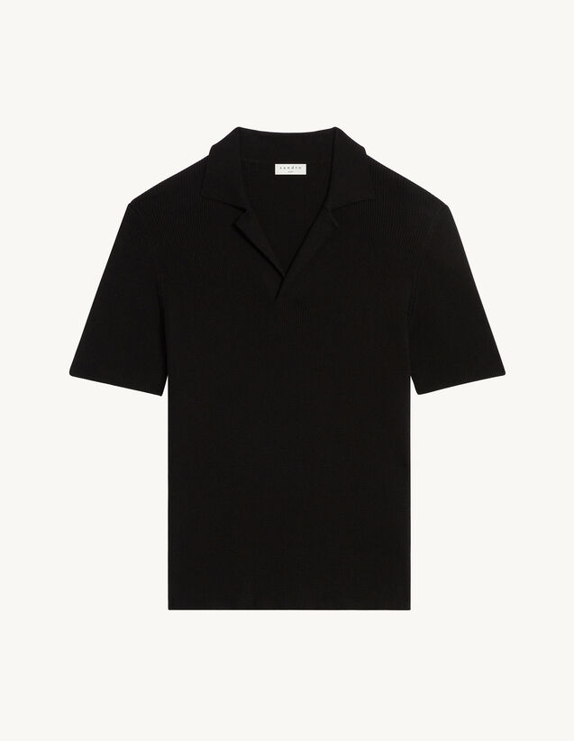 Knitted Polo Shirt : T-shirts & Polo shirts color Black