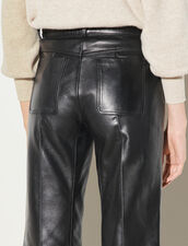 Leather Trousers : Pants color Black